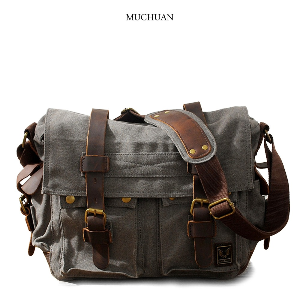 Muchuan cloth Europe and the United States to restore ancient ways ms canvas men messenger bag one shoulder bag Male canvas bag 2017 nitecore five colours primary infrared light ci6 hunting kit gear hunting law enforcement militar flashlight lantern boxset