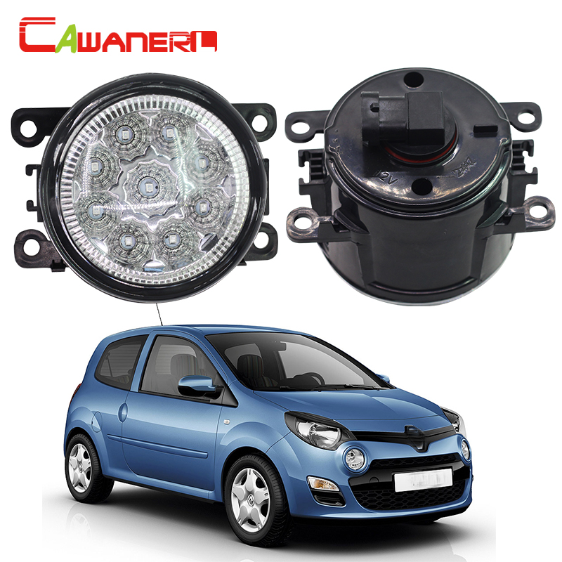 Cawanerl 2 X Car Fog Light LED Bulb Auto DRL Daytime Running Light DC 12V For Renault Scenic Twingo Symbol Sandero Stepway cawanerl 2 x car led light auto fog light drl daytime running light for lexus rx 450h rx450h awd closed off road vehicle 2008