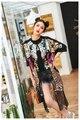 Melinda Style 2016 new women fashion coat summer short sleeves sequined lace cardigans free shipping
