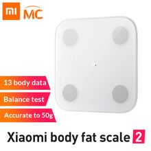 New Original Xiaomi Mi Smart Body Fat Scale 2 With Mifit APP & Body Composition Monitor With Hidden LED Display Fat Scale(China)