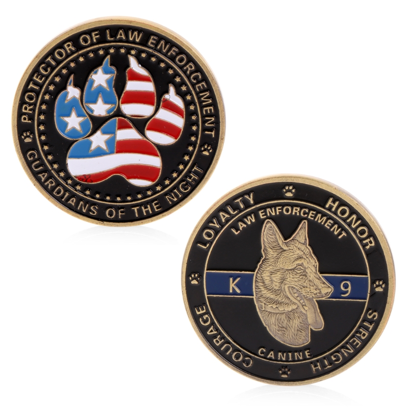2018 New Police Dog Guardians Law Enforcement Protector Commemorative Challenge Coin Gift drop ship image