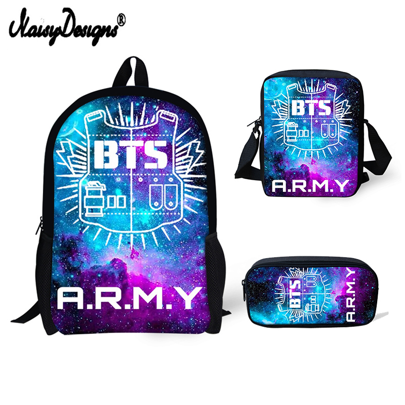 EXO BTS Letter Printing Backpacks Children Bookbag Girls School Bag Mochila  Boys Casual Daily Shoulder Bag Fashion Korean Style-in Backpacks from  Luggage ... b3c43db3f5e2e