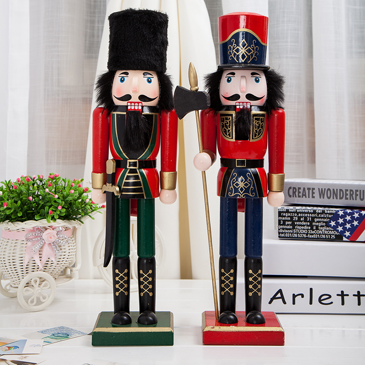 classic 38cm height nutcracker soldier decoration for christmas birthday gifts in statues sculptures from home garden on aliexpresscom alibaba group