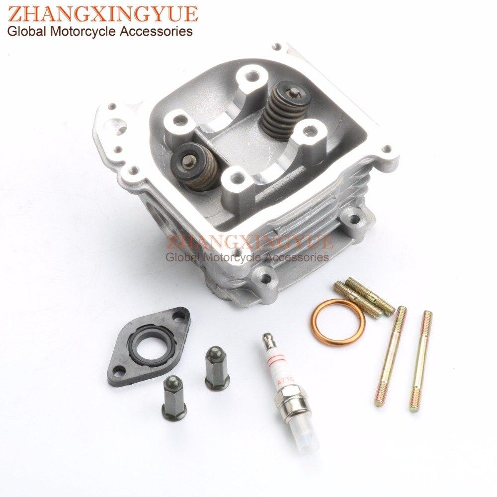 39mm-52mm EGR Cylinder Head Kit & Bolts & A7TC Spark Plug for TNG Low Boy 50 Zhongyu ZY50QT-7 139QMB GY6 50cc 4T
