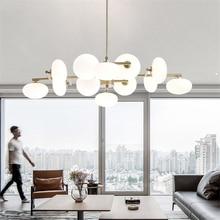Nordic Light Metal Led Chandeliers Modern Dining Room Glass Ball Pendant Lamp Living Room Light Fixture Lighting Suspension цена 2017