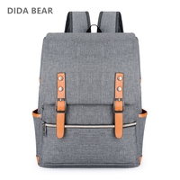 DIDA BEAR Vintage Men Women Canvas Backpacks For Teenage Girls School Bags Large Laptop Backpack Mochilas
