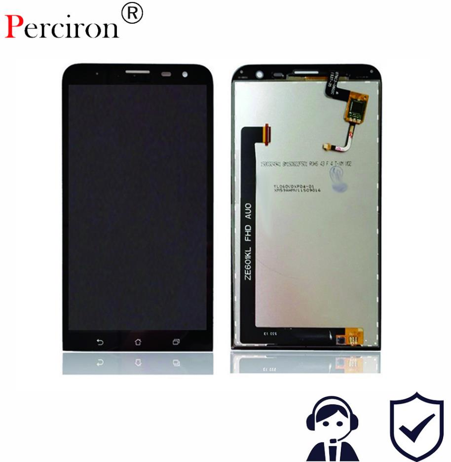 New 6'' Inch Full LCD Display + Touch Screen Digitizer Glass Assembly For Asus ZenFone 2 Laser 6.0 ZE601KL Z011D Free Shipping
