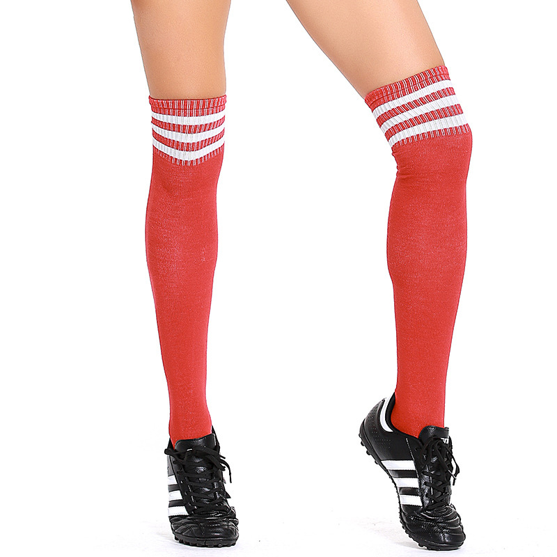 Adult Women Football Soccer Socks Football Game Cheerleader Socks