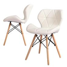 Обеденный стул в скандинавском стиле, современный минималистичный домашний Маленький стул из твердой древесины для ресторана