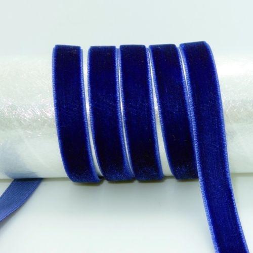 "DIY 5 ярдов 3/"" 10 мм мягкая удобная бархатная лента много цветов на выбор - Цвет: blue"