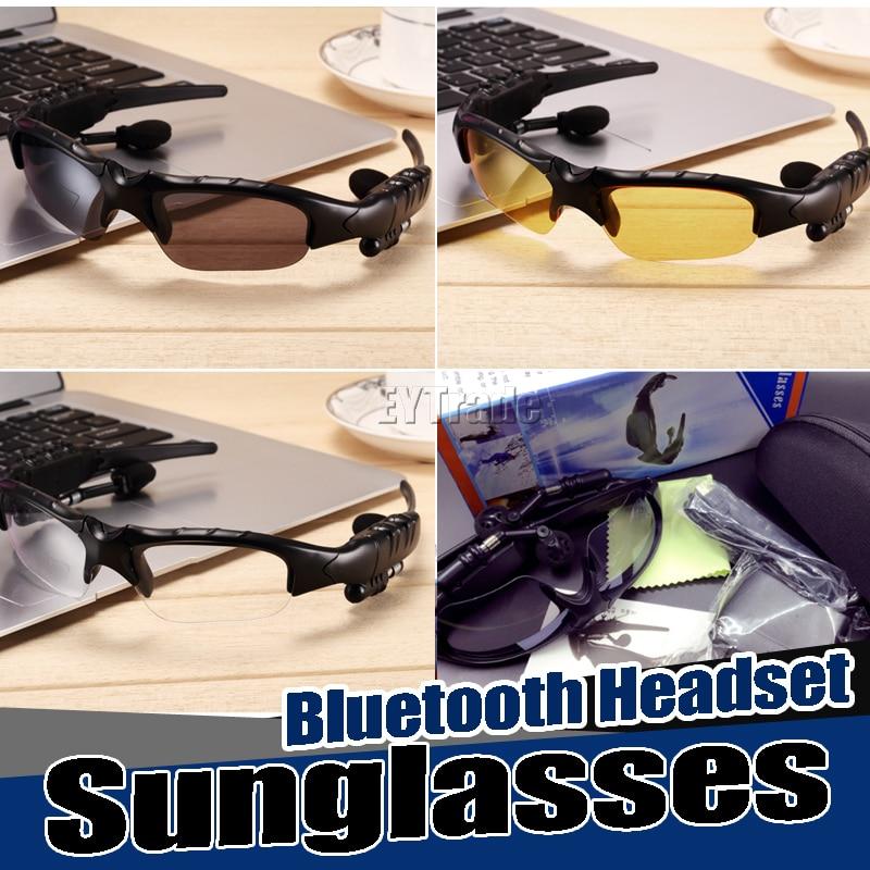 FäHig 20 Teile/los Neue Bluetooth Headset Sonnenbrille Kopfhörer Freisprecheinrichtung Ohrbügel Drahtlose Sport Mp3 Musik-player Für Smartphone Freies Dhl