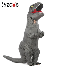 JYZCOS Dinosaur T REX Inflatable Costume for Women Men Kid Carnival Halloween Cosplay Mascot Party Purim