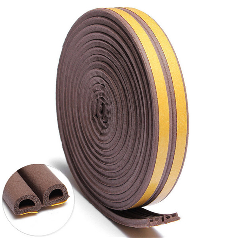 Useful 5M D/P/E Type Self Adhesive Foam Seal Strip Draught Excluder for Window Door Seal Strip For Home Tools