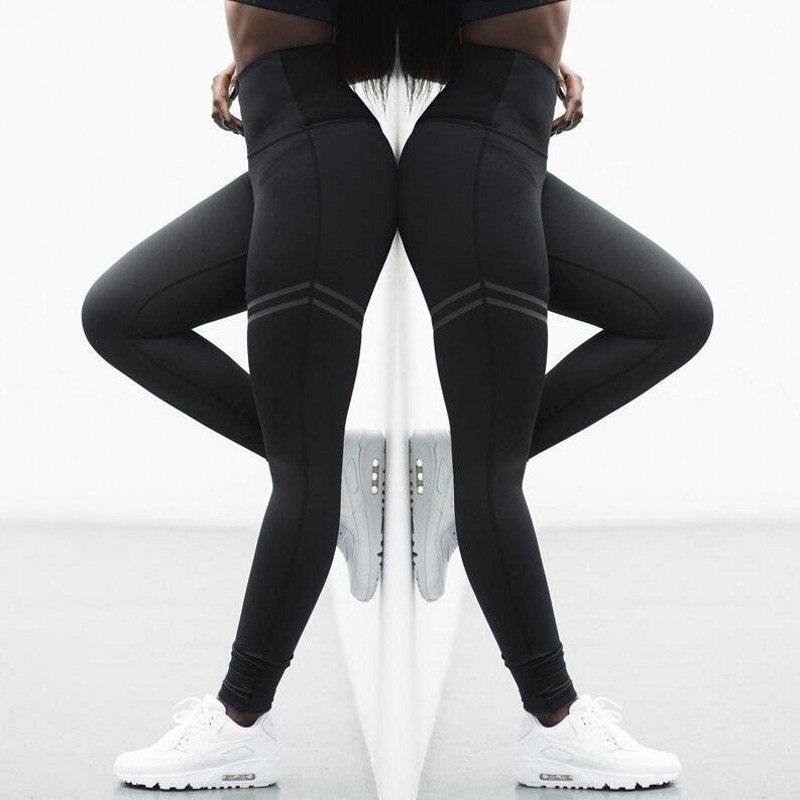 newest 125e0 b8ec2 Leggings 2018 Neue ankunft sportbekleidung leggings für frauen gestreiften  nehmen sexy fitness legging weibliche freizeitsport bodybuilding hosen