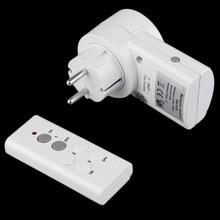 Беспроводной Пульт дистанционного Управления дома Мощность Outlet выключатель света гнездо 1 пульт дистанционного разъем ЕС BH9938-1 DC 12 В