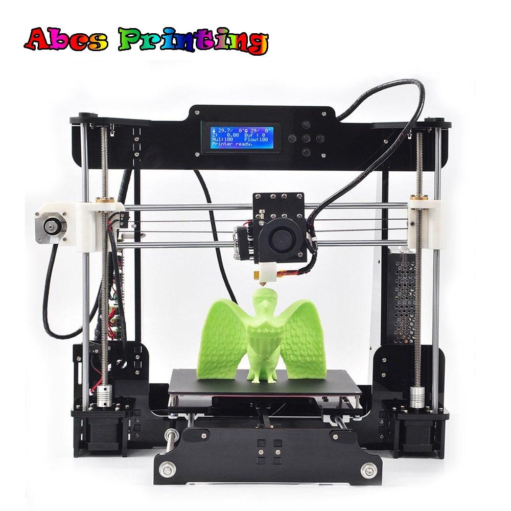 Impressora 3D A8 Acrilico FAI DA TE Prusa I3 Motore Eccellente Durevole di Potere 3D Stampante 3D Drucker Stampante 3D