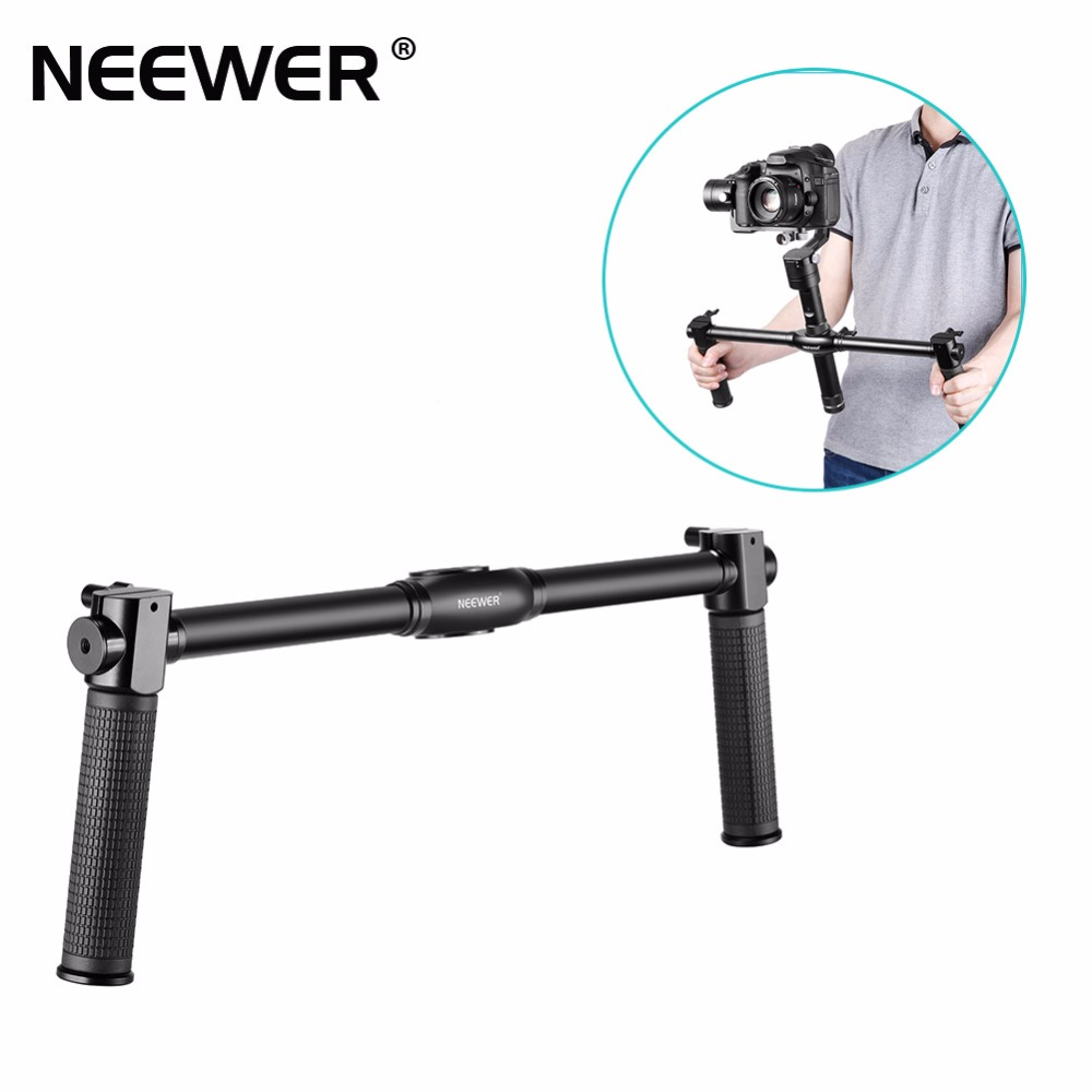 Neewer Dual Handheld Grip for Neewer Zhiyun Crane M 3-Axis Handheld Stabilizer 1.5 ft / 46.5 cm Non-slip Durable Camera Gimbal yuneec q500 typhoon quadcopter handheld cgo steadygrip gimbal black