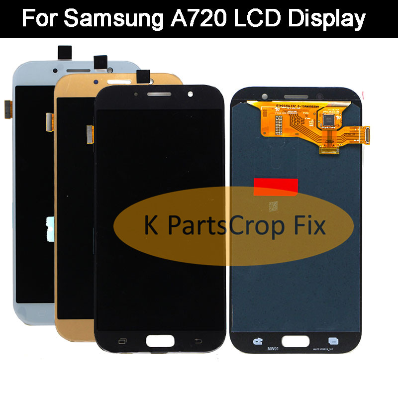 For SAMSUNG GALAXY A7 2017 A720 A720F SM A720F LCD Display Touch Screen Digitizer Assembly Replacement