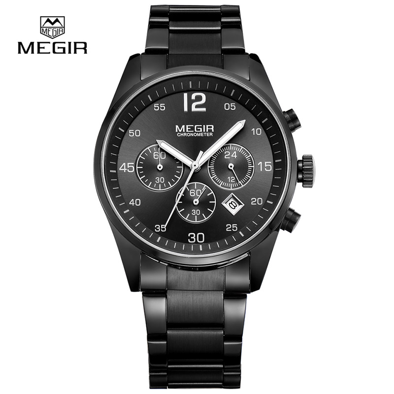 Megir Men's Watches Luminous Waterproof Calendar Sports Military Quartz Watch relogio masculino relojes 2010