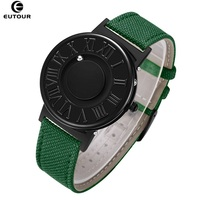EUTOUR Colors Canvas Strap watch man Magnetic Ball Quartz Watches Personify Waterproof Male Clock Simple Mimimalist Wristwatches