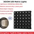 4 шт./лот Flightcase Pack 36X3W теплый белый светодиодный матричный свет высокой мощности 130 Вт Led Алмазный луч эффект света 100-240 В ЖК-дисплей