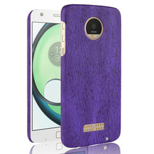 SuliCase Leather Case for Moto Z Play XT1635 Wood Grain Hard Case Cover for Motorola Moto Z Play ZPlay  Hard PC Frame Cover