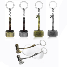 RJ New 20 Pcs/Lot Avengers 3 Thor Axe Hammer Keychains Bronze Silver Mjolnir Infinity War Men Women Keyring Cosplay Jewelry