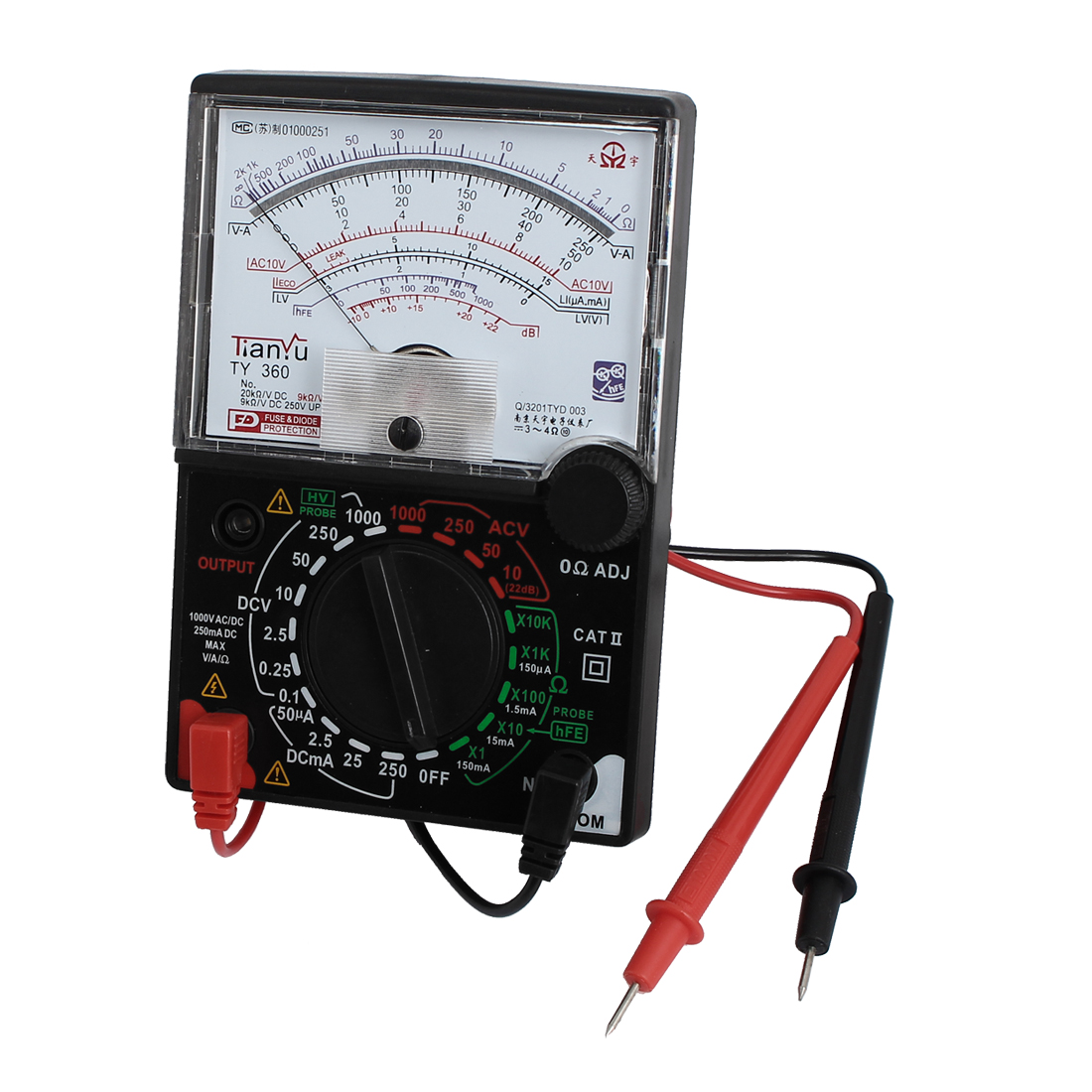 Ty-360 Battery Powered Current Ac/ Voltage Resistance Test Analog Multitester W Leads  цены