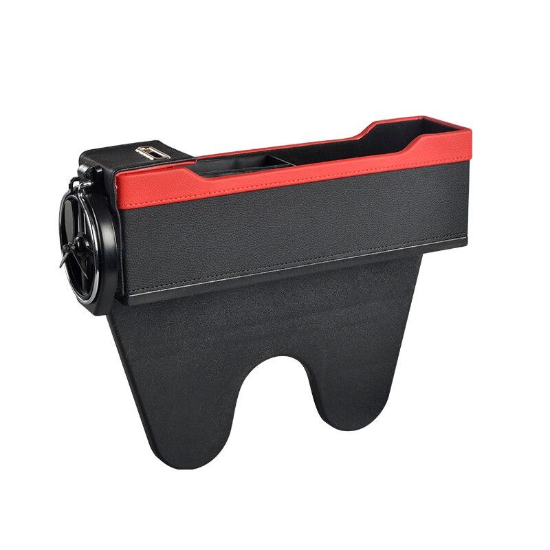 Siège auto fente boîte de rangement siège auto fente avec organiseur de pièces de monnaie et support de verre Console poche latérale