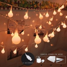 OSIDEN Ball String Lights Star USB 5V 2M 20LED Holiday Lighting Outdoo