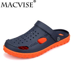 Men's Croc Shoes Casual Slip-on 2018 New Summer Hollow-out Clogs Water Sandals Breathable&light Slippers Flip-flops