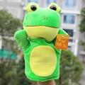 Rana de peluche de Juguete Animal Nursery Juguetes Educativos Brinquedos De Peluches Marioneta Un Doigts Luva De Bebe Bebe Bebe Unissex Frio