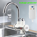 Electric Water Heater Tap Instant Hot Water Faucet Heater Cold Heating Faucet Tankless Instantaneous with leakage protector