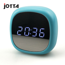 New creative mirror clock multi-functional alarm led cosmetic electronic dual power