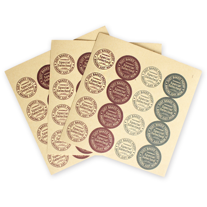 160Pcs/Lot New Special Selected Baking Just Now Hand Made Sealing Label Kraft Sticker Cake DIY Work Round Gift Stickers