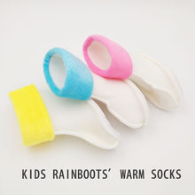 Winter Kids Rainboots' warm socks for baby Boys Girls Water Shoes Children Pupil waterpoof shoes rubber PVC shoes 1-6Y(China)