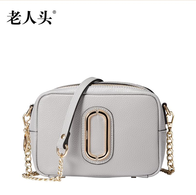 ФОТО Women bag  2016 new fashion shoulder Messenger Bag Simple casual cowhide small square package  Chain bag