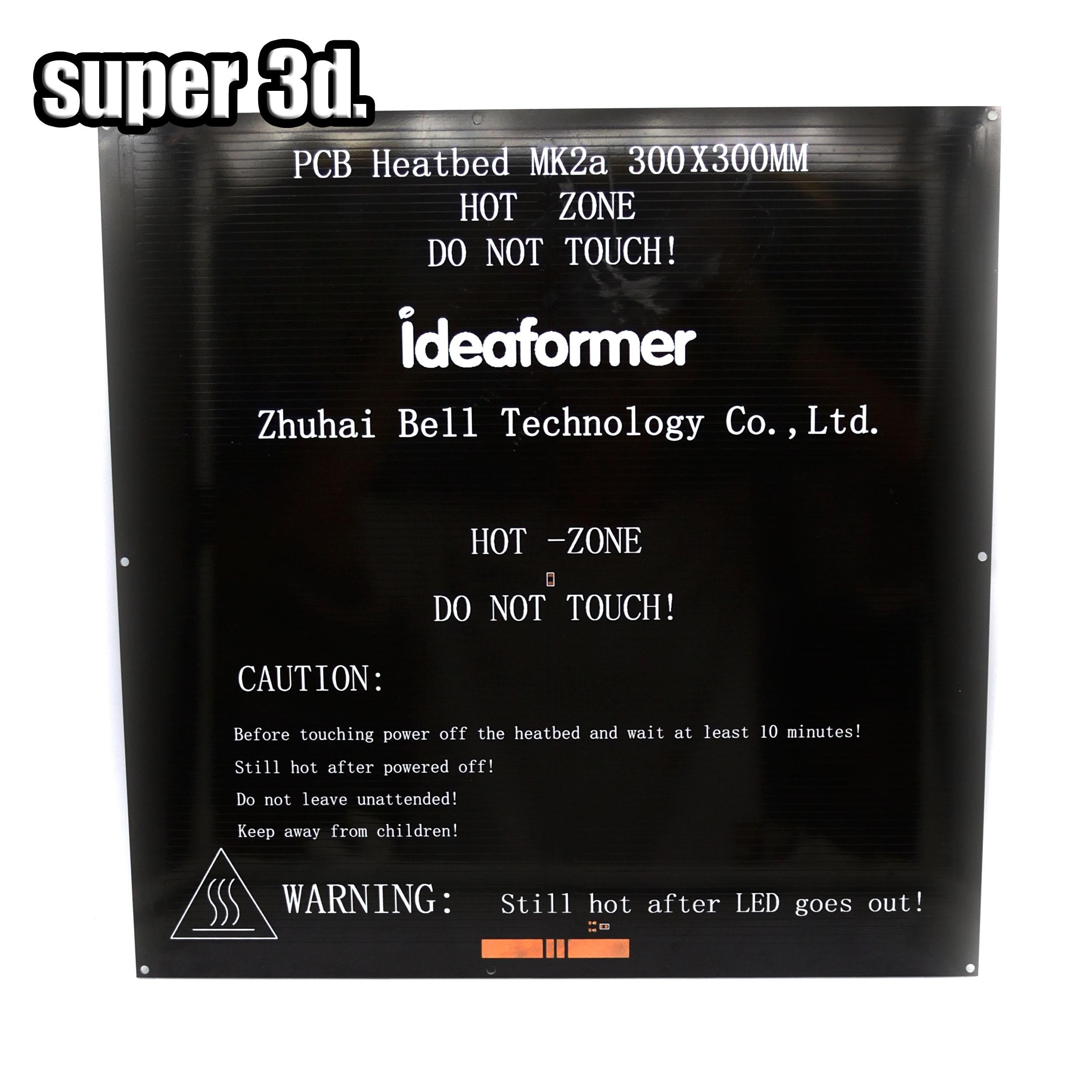 Impresora 3D heatbed MK2a PCB placa de aluminio estándar cama cama Caliente 300*