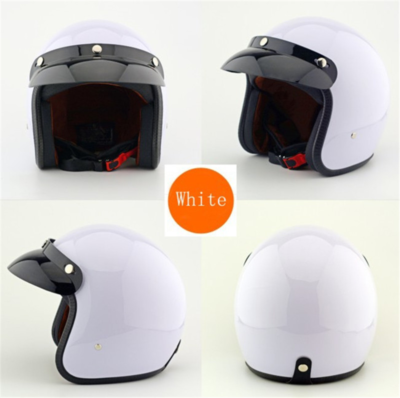 Motorcycle Helmet White Support New Colors Retro Fashion Motos Helmet Unisex Men And Women Motocross Cafe Racer Helmet Capacete