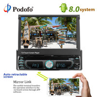 Podofo Car Radio DVD Player 1Din 7'' Touch Screen Bluetooth GPS Car Audio USB FM MP5 Auto Radio Car Multimedia Player Autoradio