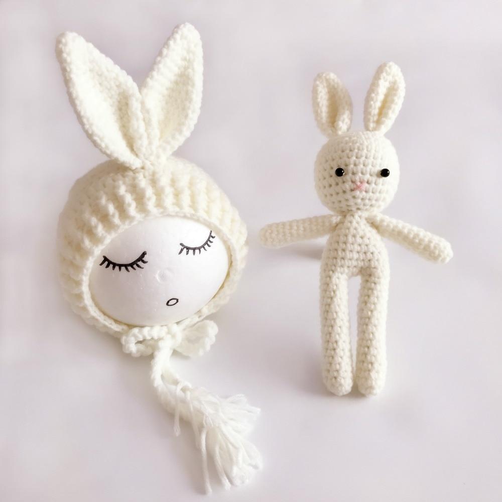 Recién Nacido conjunto, ganchillo sombrero del conejito del bebé y ...