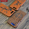 Original Wood Case For Huawei Honor 9 Hard Carved Pattern Retro Coque Protective Back Cover Cases