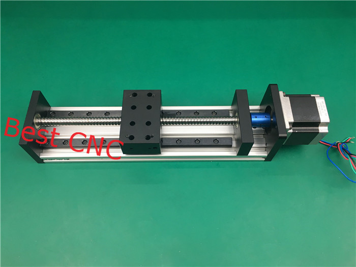 High Precision CNC GX 80*50 1204 Ballscrew Sliding Table 1000mm effective stroke +1pc nema 23 stepper motor axis Linear motion toothed belt drive motorized stepper motor precision guide rail manufacturer guideway