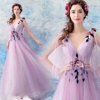 Purple V Neck Sleeveless Luxury Evening Formal Dress Wedding Bridal Strapless Party Dress Birthday Gift For Women Plus Size 5XL