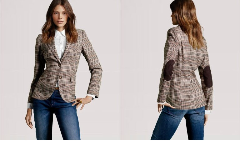 Tweed jacket elbow patches womens – Novelties of modern fashion ...