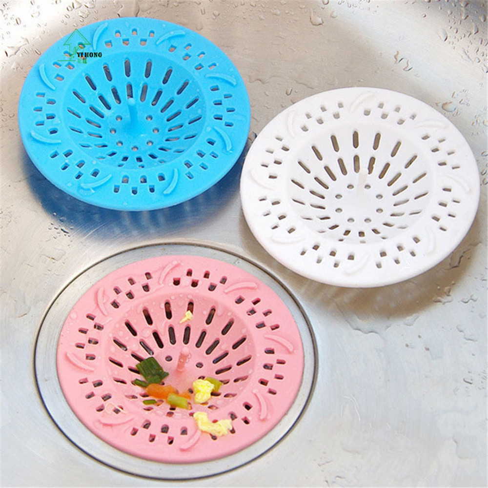 YI HONG Silicone Kitchen Sink Filter Sewer Drain Hair Colanders ...