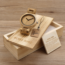 BOBO BIRD G27 Mens Wooden Watch Casual Fashion Full Bamboo Quartz Movement Montre Homme in  Gift Box  OEM Relogio
