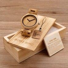 BOBO BIRD G27 Mens Wooden Watch Casual Fashion Full Bamboo Quartz Movement Montre Homme in  Gift Box OEM Clock