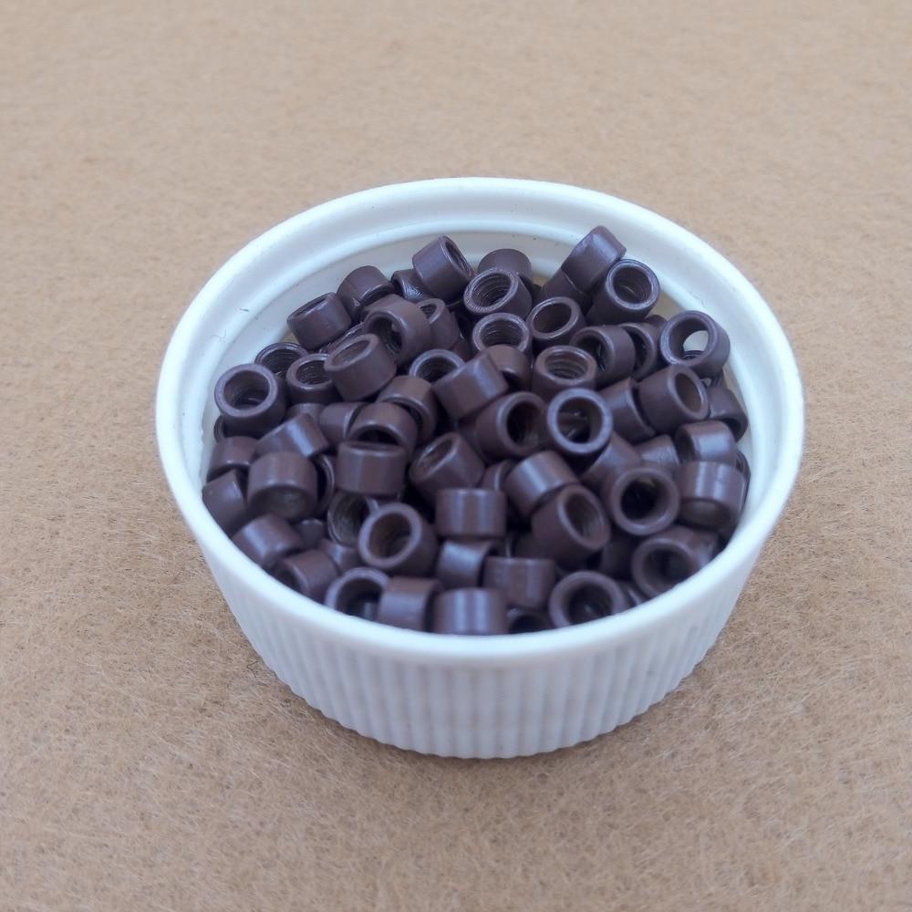 1000pcs 4.0mm Aluminium Micro Ringar Pärlor Länkar med - Hårvård och styling - Foto 4