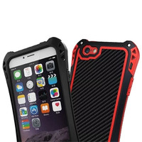 R Just Waterproof Shockproof Carbon Fiber Gorilla Tempered Glass Metal Aluminum Armor Case For Iphone SE